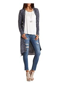 Marled Duster Cardigan Sweater
