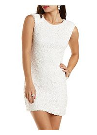 Sequined Sleeveless Bodycon Dress