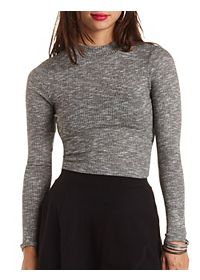 Ribbed Turtleneck Crop Top
