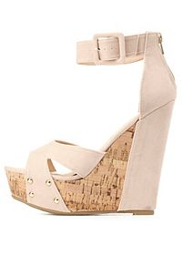 Bamboo Crisscross Platform Wedge Sandals