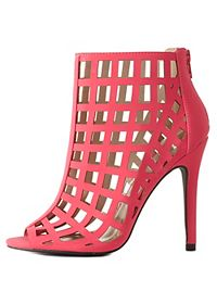Qupid High Heel Caged Booties