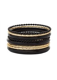 Etched & Coated Bangles - 8 Pack