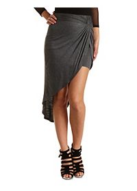 Knotted High-Low Tulip Skirt