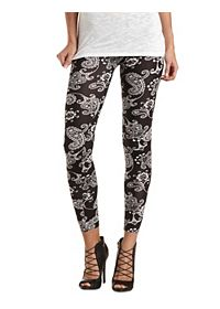 Cotton Paisley Printed Leggings