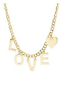Love Charm Chain Necklace