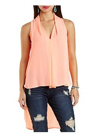Extreme High-Low Sleeveless Top