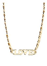Love Chain Collar Necklace