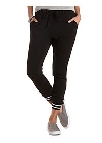Textured Knit Jogger Pants with Pockets