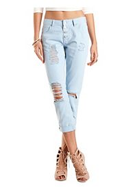 "Refuge ""Boyfriend"" Colored Cropped Jeans"