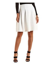 Geo-Quilted Full Midi Skirt