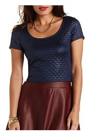 Quilted Shimmer Crop Top