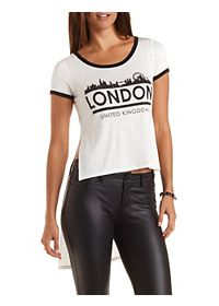 Extreme High-Low London Ringer Tee