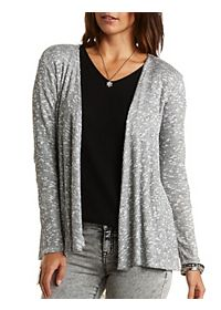 Lace Back Marled Cardigan