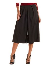 Pleated High-Waisted Culottes