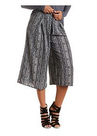 Striped Patterned Culottes