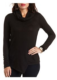Asymmetrical Turtleneck Top