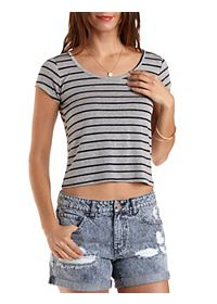 Criss Cross Back Crop Tee