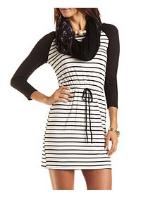 Striped Raglan Dress