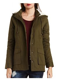 Hooded Long Line Anorak Coat