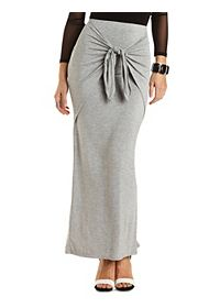 Layered & Knotted Maxi Skirt