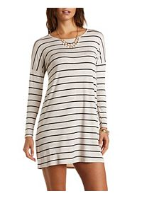 Long Sleeve Striped T-Shirt Dress