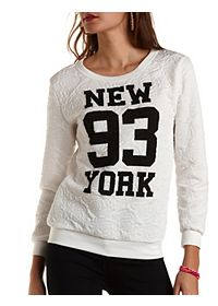 Rose-Quilted New York Graphic Sweatshirt