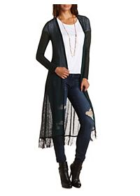 Fringe Trim Duster Cardigan