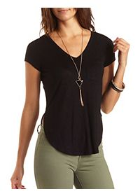 Step Hem High-Low Pocket Tee