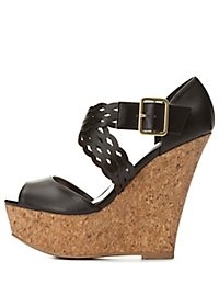 Crisscrossing Platform Wedges