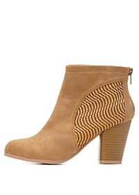 Qupid Basket-Woven Booties