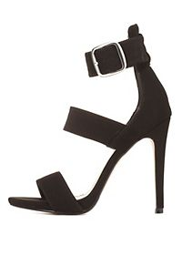 Triple-Banded Ankle Strap Heels