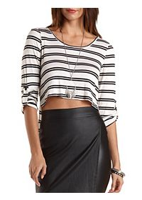 Cropped Extreme High-Low Tee