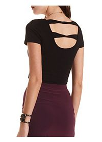 Twisted-Back Crop Top