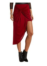 Knotted & Layered High-Low Skirt