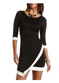 Color Block Asymmetrical Dress