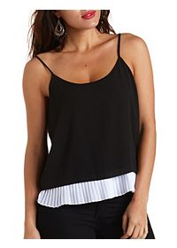 Pleated & Layered Swing Tank Top