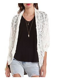 Pointelle Cocoon Cardigan Sweater