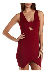 Cut-Out Asymmetrical Bodycon Dress