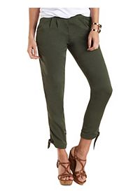 Ankle-Tie Cropped Trousers