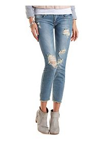 Cropped & Destroyed Skinny Jeans