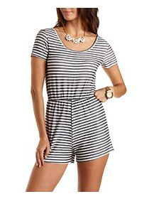 Striped French Terry Romper