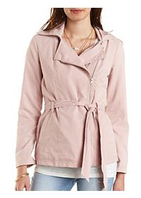 Hooded Moto Trench Coat