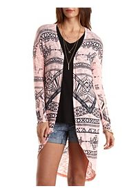 Aztec Duster Cardigan Sweater
