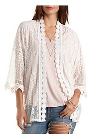 All Over Lace Kimono Top