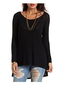 Long Sleeve High-Low Tunic Tee