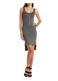 Bodycon High-Low Tank Dress