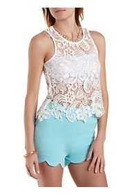 Shimmer Lace Swing Tank Top