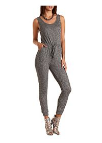 Heathered & Ribbed Tank Jumpsuit