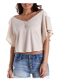 Embroidered Back Poncho Tee