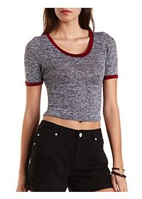 Marled Knit Ringer Tee